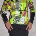 Tavaszváró! Dekoratív design nőies ruha tunika 40-42 méretben, Ruha, divat, cipő, Női ruha, Ruha, Varrás, Vigyél színt a szürke hétköznapokba... Dekoratív, feltűnő színvilágú, vállvillantós, térd fölött ér..., Meska