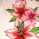 Liliomos pillangós hosszú nyáriruha, Ruha, divat, cipő, Női ruha, Ruha, Varrás, Vigyél színt a szürke hétköznapokba... Dekoratív, színes liliomos mintájú, gumírozott mellrészű, cs..., Meska