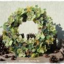 Görög kegyeleti koszorú, zöld orchideával 50 cm , Dekoráció, Mindenmás, Vallási tárgyak, Dísz, Mindenmás, Virágkötés, Sírdísz, görög koszorú mindenszentekre, évfordulóra.  A koszorú átmérője:50 cm Felhasználtam hozzá ..., Meska