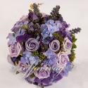 """"""" Buja-lila II. """" menyasszonyi csokor KÉSZLETEN, Otthon, lakberendezés, Dekoráció, Esküvő, Esküvői csokor, Virágkötés, Mindenmás, """"Buja-lila"""" menyasszonyi csokor, a lila szín kedvelőinek ...  Különböző árnyaltú lila színű  habróz..., Meska"""