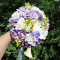 """"""" Crystal Beauty """" menyasszonyi csokor KÉSZLETEN, Otthon, lakberendezés, Dekoráció, Esküvő, Esküvői csokor, Virágkötés, Mindenmás, """"crystal beauty"""" menyasszonyi csokor, a lila szín kedvelőinek ...  Különböző árnyaltú lila, fehér  ..., Meska"""