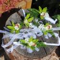 """Kitűző, vőlegény virágdísz orchideából, Dekoráció, Esküvő, Ékszer, óra, Virágkötés, Mindenmás, """" Crystal Beauty """" menyasszonyi csokor hoz készült kitűző - latex orchideából. Tűvel rögzíthető az ..., Meska"""