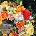 """""""Vidám tavasz """" ajtódísz RENDELHETŐ !!!, Dekoráció, Otthon, lakberendezés, Dísz, Virágkötés, Mindenmás, Színes virágokból készült ez az ajtódíszem - vidám színes tavaszi hangulatban.  Mérete: 25 cm  Más ..., Meska"""