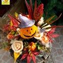 """Halloweeni hangulatban - őszi kaspós asztali dísz, Dekoráció, Otthon, lakberendezés, Ünnepi dekoráció, Dísz, Virágkötés, """"Itt van az ősz, itt van újra""""  Petőfi Sándor versének ide vágó sorával köszöntjük az őszt.  Az els..., Meska"""
