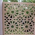 Marokkói mintás, natúr fa pergola, térelválasztó, falidísz, lámpabúra, Dekoráció, Magyar motívumokkal, Otthon, lakberendezés, Dísz, Famegmunkálás, Fából, kézzel és lézervágással készített magyar termék, új.  Pergola, térelválasztó elem, falidísz,..., Meska