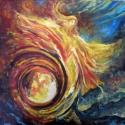 Lobbanó élet, Dekoráció, Mindenmás, Otthon, lakberendezés, Kép, Fotó, grafika, rajz, illusztráció, Festészet, 40x40 cm-es olajfestmény feszített vásznon. Élénk, vibráló színek, erőteljes hatás jellemzi a képet., Meska