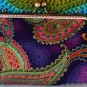 Indira - csatos fémkeretes tárca, Táska, Pénztárca, tok, tárca, Pénztárca, Varrás, Aranykontúros designer pamutvászonból készítettem ezt a dekoratív csatos tárcát - akár péntárcának,..., Meska