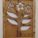 Virágos (fali) ékszertartó láncoknak, akár 40 pár fülbevalónak, Ékszer, óra, Ékszertartó, Fülbevaló, Nyaklánc, Famegmunkálás, Ki a virágot szereti, rossz ember nem lehet! Ez a kézzel készített, falra szerelhető, saját tervezé..., Meska