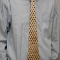 Fa nyakkendő - pöttyös, Férfiaknak, Ruha, divat, cipő, Férfi ruha, Vőlegényes, Famegmunkálás, Fából készült nyakkendő, mindenkinek aki szereti a fát vagy a nyakkendőt, vagy ha csak egy különleg..., Meska