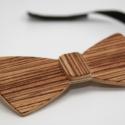 Fa csokornyakkendő - zebracsíkos furnérral, Ruha, divat, cipő, Férfiaknak, Férfi ruha, Vőlegényes, Famegmunkálás, Nem hézköznapi, de akár hétköznapokra is:-)) Egy igazán egyedi, különleges darab férfiaknak!  Fából..., Meska