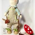 Cica baba - fiú, Játék, Baba, babaház, Cica baba 35cm-es textilbaba, teste pamut anyagból, töltete műszál. Kezei lábai mozgathatóak, ezért ..., Meska