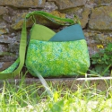 LILIPUTI maMut táska - zöldek zöldje, Táska, Válltáska, oldaltáska, Törpemamut készült, kis-nagylányoknak, bevállalós anyukáknak, netalán nagyiknak:-)  Az új LILIPUTI t..., Meska