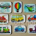 Járművek - hűtőmágnes készlet (9 db-os), Baba-mama-gyerek, Konyhafelszerelés, Játék, Hűtőmágnes, Fotó, grafika, rajz, illusztráció, Mindenmás, Végre a fiúknak is valami ;)  9 különböző jármű. A picik gyakorolhatják a neveiket, a színeket, mik..., Meska