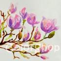 Magnólia ág - eredeti akvarell A4, Dekoráció, Képzőművészet , Otthon, lakberendezés, Festmény, Festészet, Egy kis tavaszidéző magnólia ág..néha ilyen is kell :)  Akvarellel készült jó minőségű akvarell pap..., Meska