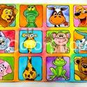 Nagy Állatos tányéralátét (A3), Baba-mama-gyerek, Otthon, lakberendezés, Konyhafelszerelés, Edényalátét, Fotó, grafika, rajz, illusztráció, Mindenmás, Vidd be az állatkertet a konyhába (meg ahova csak akarod :))  Vannak gyerekek, akiket nehéz az aszt..., Meska