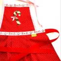 Mufinos-karácsonyi nyalókás kislány kötény, Konyhafelszerelés, Ruha, divat, cipő, Kötény, Gyerekruha, Varrás, Hímzés, Leginkább 2-4 éves kislányok részére készítettem ezt a kötényt de más mintával nagyobb méretben is ..., Meska