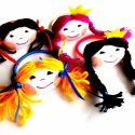 Királylányos kislány hajgumi pink hajjal, Baba-mama-gyerek, Ruha, divat, cipő, Hajbavaló, Hajgumi, Baba-és bábkészítés, Varrás, Kedves királylányos hajgumit készítettem kislányok vagy akár nagyobbak részére. Puha pamutvászon a ..., Meska