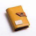 Ocher - kártyatartó, Táska, Pénztárca, tok, tárca, Pénztárca, Erszény, Bőrművesség, Varrás, Design:   Stílusos  kártyatartót készítettem finom tapintású kecskebőrből. Összesen 20-22 db kártya..., Meska