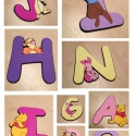 dekorgumi - figurás betűk, Baba-mama-gyerek, Dekoráció, Gyerekszoba, Falmatrica, Mindenmás, Ebben az aukcióban betűket kínálok eladásra, melyek ára 999/db. A betűk mérete kb. 12-15cm, de bárm..., Meska