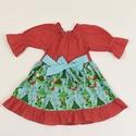 Rókás-fenyőfás 1 éves Doroti ruha, Ruha, divat, cipő, Gyerekruha, Kisgyerek (1-4 év), Varrás, Rókás-fenyőfás 1 éves Doroti ruha  100% pamutvászon, designer anyag  , Meska