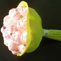 AKCIÓ Szeretlek feliratos kézzel varrott csokor, Dekoráció, Virágkötés, Varrás, Szerelmetek örök? Akkor lepd meg kedvesed egy hasonlóan Örök csokorral, melyről évek múlva is eszéb..., Meska