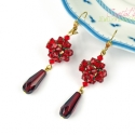 Crystal Siam Berry - Fztt, Swarovski kristly flbeval, kszer, ra, Flbeval, , Meska