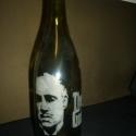 Gravirozott borosüveg -Keresztapa-Marlon Brando, Mindenmás, Dekoráció, Dísz, Mindenmás, Üvegművészet, 0.75dl-es,zöld borosüveg,Keresztapa-Marlon Brando ,gravírozva.Bármilyen minta rendelhető., Meska