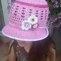 Horgolt nyári kalap, Ruha, divat, cipő, Kendő, sál, sapka, kesztyű, Sapka, Horgolás, Tiszta pamutból készítettem el ezt a kis kalapot, mely véd a nyári nap sugaraitól :)  Más színben, ..., Meska