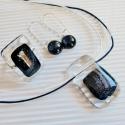 Szikrázó kék aventurin lógós üveg fülbevaló, Ékszer, óra, Ruha, divat, cipő, Fülbevaló, Ékszerkészítés, Üvegművészet, Szikrázó kék aventurin üvegből készült fülbevaló. Nikkelmentes, kapcsos, lógós akasztón van. Csillo..., Meska