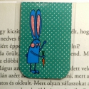 KÉK Nyuszi pöttyös mini MÁGNESES könyvjelző 1db, Naptár, képeslap, album, Könyvjelző, Fotó, grafika, rajz, illusztráció, Papírművészet, KÉK nyuszi pöttyös könyvjelző. A figura saját tervezésű.   Ez egy mágneses könyvjelző, amely igen p..., Meska