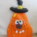 """Halloween tök, tök dekoráció, tök dísz, Baba-mama-gyerek, Dekoráció, Gyerekszoba, Ünnepi dekoráció, Hímzés, Varrás, Közeleg a Halloween, - ez a csöppet sem ijesztő, barátságos """"dísztök"""" várja, hogy a szobádba költöz..., Meska"""