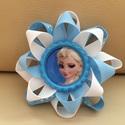 Elsa hajcsat + rugalmas hajpánt, Ruha, divat, cipő, Hajbavaló, Hajpánt, Hajcsat, Ékszerkészítés, Varrás, Jégvarázsból (Frozen) ismert Elsa hercegnő hajcsatot szalagból készítettem, amelyet 4,5 cm-es aligá..., Meska