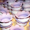 Esküvői köszönetajándék, ültető, Esküvő, Otthon, lakberendezés, Esküvői dekoráció, Gyertya, mécses, gyertyatartó, Kerámia, Festett tárgyak, Figyelem! Csak megrendelésre! Elkészülési idő: 3- 4 hét!  Az ár egy csomagra vonatkozik, egy csomag..., Meska