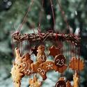Mézeskalács adventi naptár, Karácsonyi, adventi apróságok, Karácsonyfadísz, Mézeskalácssütés, Mézeskalács adventi naptár Padlásműhely stílusban díszítve... Cukormáz színe, formák választhatóak...., Meska