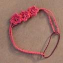 Rózsaszín virágos hajpánt, Ékszer, óra, Ruha, divat, cipő, Hajbavaló, Hajpánt, Horgolás, 3 db virággal díszített hajpánt.  Kérésre más színben is elkészítem., Meska