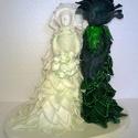 Egyedi rózsa nászpár, Dekoráció, Esküvő, Dísz, Esküvői dekoráció, , Meska