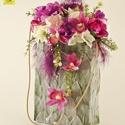 Ceffa tartós táskacsokor - lila színharmóniában, Esküvő, Esküvői csokor, , Meska
