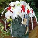 Ceffa tartós táskacsokor - piros-fehér színharmóniában, Esküvő, Esküvői csokor, , Meska