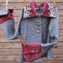Lányka kabát rusztikus, tavaszi, egyedi kabátka, Ruha, divat, cipő, Gyerekruha, Gyerek (4-10 év), Kényelmes flanel-buklé szövetből kreáltam ezt a tavaszi kabátot kis lányoknak. Különlegessége a mály..., Meska