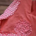 ÁRZUHANÁS -25% AZ ÁRBÓL! Pöttyös kötényes ruha kislányoknak retro ruha, Ruha, divat, cipő, Gyerekruha, Talán a 70-es éveket idézi ez a szép halvány piros, pöttyös kötényes vászon ruhácska. Hátul cipzárra..., Meska