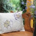 Virágos vászon párnahuzat, Otthon, lakberendezés, Dekoráció, Lakástextil, A teraszod kedves színfoltja lehet ez a nagyméretű párna. Különleges mintázata egyedivé varázsol min..., Meska