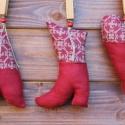 Karácsonyi díszek textil díszek , Dekoráció, Karácsonyi, adventi apróságok, Karácsonyfadísz,  Már nincs messze a Karácsony Igyekeztem új textil díszekkel meglepni vásárlóimat a szezon kezdetére..., Meska