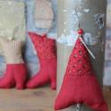 Karácsonyi díszek textil díszek 3 db/ csom., Dekoráció, Karácsonyi, adventi apróságok, Karácsonyfadísz, Már nincs messze a Karácsony!Igyekeztem új textil díszekkel meglepni vásárlóimat  a szezon kezdetére..., Meska