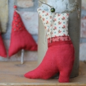 Karácsonyi díszek textil díszek 3db/csom., Dekoráció, Karácsonyi, adventi apróságok, Karácsonyfadísz, Már nincs messze a Karácsony Igyekeztem új textil díszekkel meglepni vásárlóimat a szezon kezdetére ..., Meska
