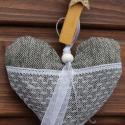 Textil szív  szürke ezüst szív Esküvőre Karácsonyra Dekoráció, Dekoráció, Karácsonyi, adventi apróságok, Karácsonyfadísz,   Textil szív  szürke ezüst szív Esküvőre Karácsonyra Dekoráció  Bár a fotón nem észrevehető a szürk..., Meska