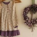 !Ruha virágos könnyű tavaszi ruha/ tunika lila fodorral 104-122 méretig, Ruha, divat, cipő, Gyerekruha, Gyerek (4-10 év), Kedves kis bézs ruha apró virágokkal és lila fodorral. Nagyon kellemes,kényelmes viselet,tiszta pamu..., Meska