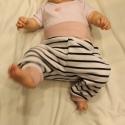 Bébi nadrág pamut játszónadrág kicsi lányoknak , Ruha, divat, cipő, Gyerekruha, Baba (0-1év),  Kényelmes, meleg, csíkos játszó nadrág kicsi lányoknak. Anyaga rugalmas pamut.  Mérete:74  4-5 hóna..., Meska