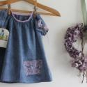 Tunika Könnyű nyári tunika rózsaszín csipkével , Ruha, divat, cipő, Gyerekruha, Gyerek (4-10 év), Baba (0-1év), Könnyű  pamut tunika.A rózsaszín csipkével díszített zseb teszi egyedivé.Az anyag különleges, batiko..., Meska