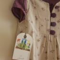 Ruha virágos könnyű nyári ruha/ tunika lila fodorral 104-122 méretig, Ruha, divat, cipő, Gyerekruha, Gyerek (4-10 év), Kedves kis bézs ruha apró virágokkal és lila fodorral. Nagyon kellemes,kényelmes viselet,tiszta pamu..., Meska