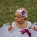 Fehér tütü ruhácska  Baby koszorúslány ruha tütü ruhácska fotózáshoz, Baba-mama-gyerek, Ruha, divat, cipő, Gyerekruha, Baba (0-1év), Tündéri tütü ruhácska horgolt felsővel.  A fejpánt és a leggings külön rendelhető a kért színben! El..., Meska